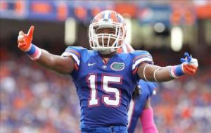 Loucheiz Purifoy returns to lead Gator defensive backfield. Photo credit to heavyinthegames.com